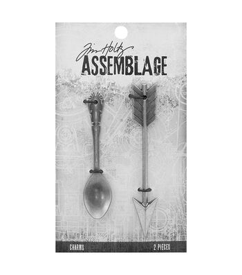 Tim Holtz® Assemblage Pack of 2 Spoon & Arrow Charms