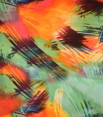 "Silky Prints Stretch Satin Fabric 58""-Jungle"