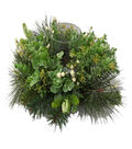 Blooming Holiday Eucalyptus & Berry Candle Holder