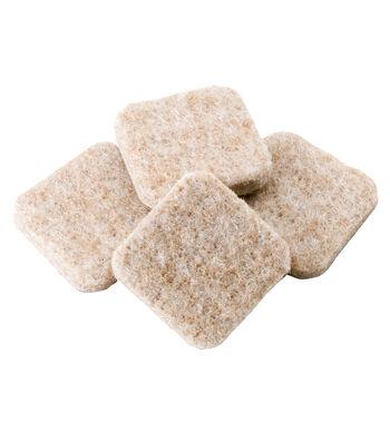 """1"""" Square Felt Pads Oatmeal"""