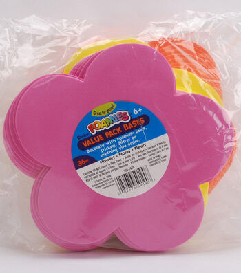 Darice Foamies Value Pack-36PK/Flowers