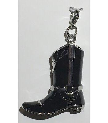 Clip on Shoe-Black Cowboy Boot