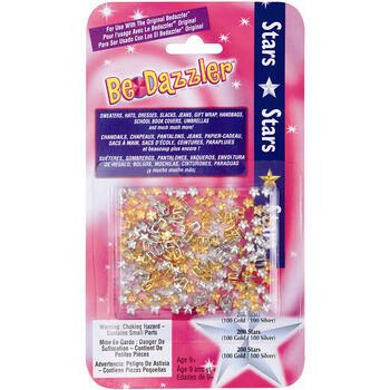 BeDazzler Stud Refill Stars Gold & Silver