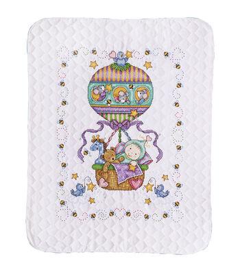 Tobin Balloon Ride stamped-cross-stitch Kit Baby Quilt