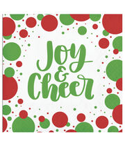 Maker's Holiday Christmas 20 pk Beverage Napkins-Joy & Cheer, , hi-res