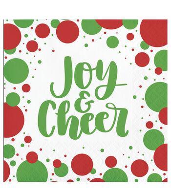 Maker's Holiday Christmas 20 pk Beverage Napkins-Joy & Cheer