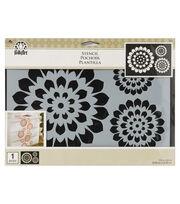 "FolkArt® 11.75""x8.25"" Motif Painting Stencil-Pinwheels, , hi-res"