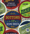 Novelty Cotton Fabric-Beer Coasters
