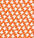 Holiday Showcase™ Halloween Cotton Fabric 43\u0027\u0027-Large Ghosts on Orange