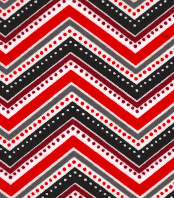 "Snuggle Flannel Fabric 42""-Dotted Chevron Red"