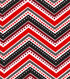 Snuggle Flannel Fabric 42\u0022-Dotted Chevron Red