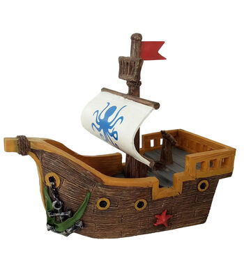 Bloom Room Littles Resin Pirate Ship