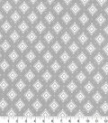 Quilter\u0027s Showcase™ Fabric 44\u0027\u0027-Aztec Geometric on Light Gray