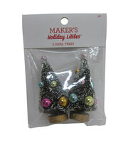 Maker's Holiday Christmas 2 pk Sisal Trees with Ornaments-Bright Colors, , hi-res
