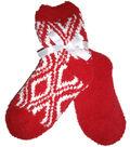 Diamond Red & White Tactile Sock