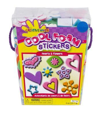 Creative Hands Sticker Bucket Hearts & Flowers