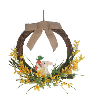 Easter Grapevine Wreath with Sisal Bunny