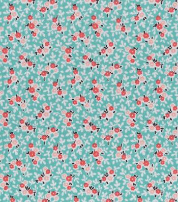 "3 Yard Pre-Cut Snuggle Flannel Fabric 42""-Mint Ditsy Floral"