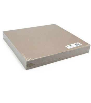 "Grafix 12""x12"" Medium Weight Chipboard Sheets-25PK/Natural"