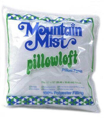 """Mountain Mist Pillowloft Woven Cover Pillow Form 12""""x 12"""""""