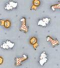 Nursery Cotton Fabric 43\u0022-Safari Tossed Animals
