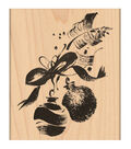 Penny Black Mounted Rubber Stamp 3.25\u0022X4\u0022-Ornaments&Ribbon