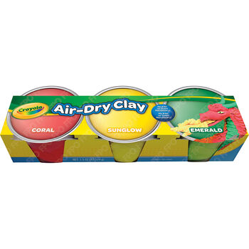 Crayola Air Dry Clay 3/Pkg-Pastel Colors