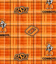 "Oklahoma State Cowboys Cotton Fabric 44""-Plaid, , hi-res"