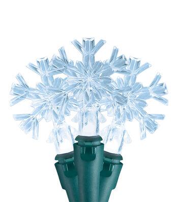 Maker's Holiday Christmas 20 ct LED Snowflake String Lights-Warm White