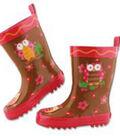 Rainboots  Owl Sz 10