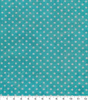 "Keepsake Calico™ Cotton Fabric 43""-Dot Texture Turquoise, , hi-res"
