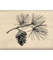 Inkadinkado® Mounted Rubber Stamp-Pine Bough, , hi-res