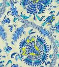 Waverly Holi Festival Upholstery Fabric 54\u0022-Prussian