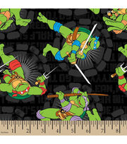 Teenage Mutant Ninja Turtles Turtle Word Toss Cotton Fabric, , hi-res