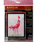 RIOLIS Stamped Cross Stitch Kit 11.75\u0022X15.75\u0022-Flamingo