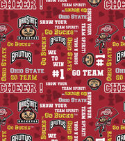"Ohio State University Buckeyes Cotton Fabric 44""-Glitter, , hi-res"