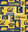 University of California Berkeley Golden Bears Fleece Fabric 58\u0022-Block