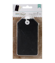 "DIY Shop Tags 12/Pkg-Chalkboard, 2.5""X4.5"", , hi-res"