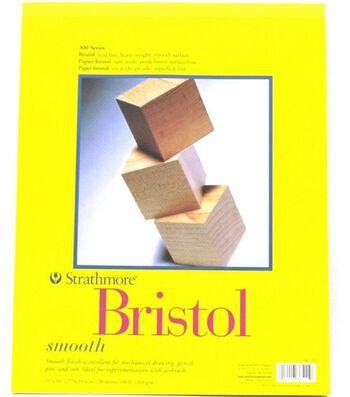 "Strathmore Vellum Bristol Paper Pad 11""X14""-20 Sheets"