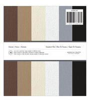 """American Crafts Solid Cardstock Pad 6""""X6"""" 36/Pkg-Neutrals, , hi-res"""