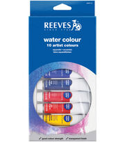Reeves Water Colour Paints 22ml 10 Pack-Assorted Colors, , hi-res