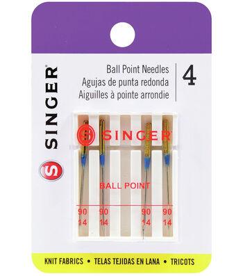 Singer Ball Point Machine Needles 4/Pk-Size 14/90