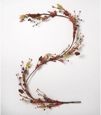 Blooming Autumn 66'' Metal Acorn & Large Berry Garland