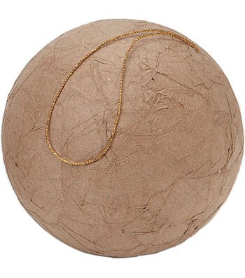 Paper Mache Wrinkled Ball 100mm