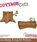 CottageCutz Die-Tree Stump & Log for Peekers 2\u0022 To 3.1\u0022