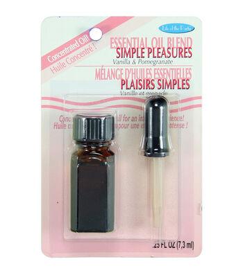 Essential Oil Blend .25oz-Simple Pleasures-Vanilla, Pomegranite