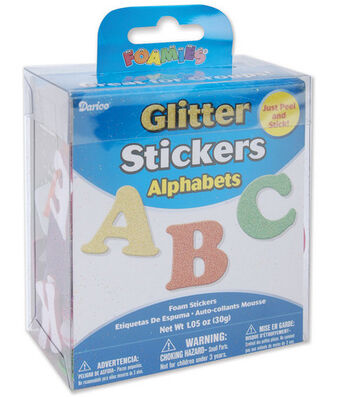 Darice Glitter Foam Stickers-Alphabet