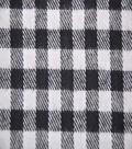 Plaiditudes Brushed Cotton Fabric 44\u0022-Gingham Black White