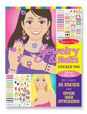 Jewelry Nails Glitter Sticker Pad, , hi-res