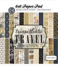 Carta Bella Double-Sided Paper Pad 6\u0022X6\u0022-Transatlantic Travel